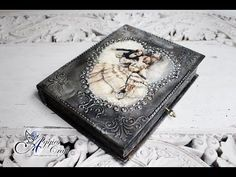 Mix Media - Metal Effect on Wooden Box - DIY Tutorial - YouTube