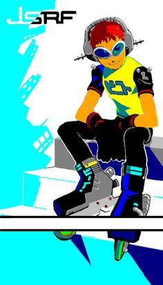 Z Toon, Jet Set Radio, Videogame Art, Character Concept, Cyber, Videogames, Funny Pictures, Fanart, Backgrounds