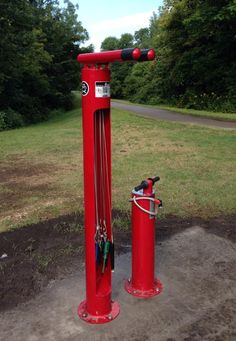 This Bike Station added to our Bike Trails in Waterloo, Cedar Falls. Pump and tools for minor adjustments to your bike along the trail. ; )