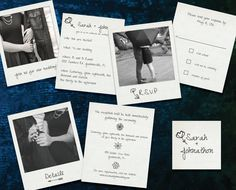 Polaroid Picture Wedding Invitation Suite by BeforeDuringandAfter on Etsy