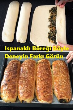 Try the Spinach Pastry Like This See The Difference - . Paleo Recipes, Bread Recipes, Snack Recipes, Turkish Recipes, Popular Recipes, Hot Dog Buns, Food And Drink, Cooking, Breakfast