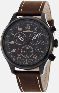 s Expedition Rugged Field Chronograph Black Dial Brown Leather Strap Watch Best Kids Watches, Amazing Watches, Cool Watches, Watches For Men, Stylish Watches, Luxury Watches, Timex Expedition, Field Watches, Brown Leather Strap Watch