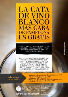 Promoción de cata de vino blanco francés.