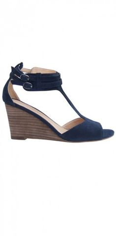 T-Bar Wedge in Navy now available at www.CuratorSF.com $160