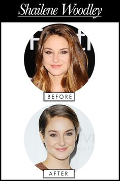 THE WORST CELEBRITY MAKEOVERS OF 2013: Shailene Woodley <---- ummm... idk about them, but she looks like, EXACTLY the same in both pics ~Divergent~ ~Insurgent~ ~Allegiant~
