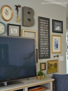 Eclectic TV Gallery Wall