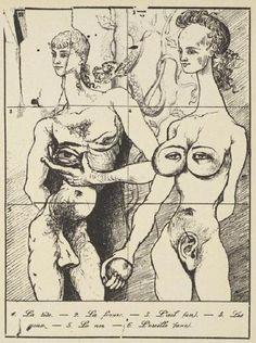 Les Métamorphoses Erotiques,ca. 1960, Salvador Dalí