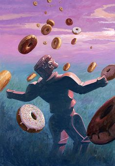 """Donut Redemption - Eric Joyner. U can tell I have kids cause this made me think of the movie """"cloudy with a chance of meatballs"""". :)"""