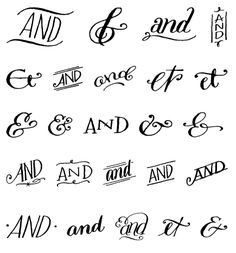 "myfonts: "" Do you like ampersands? How about a free set of hand-drawn ampersands and ornaments? Free font: Bookeyed Sadie Ampersands on MyFonts "" Hand Lettering Alphabet, Doodle Lettering, Creative Lettering, Typography Letters, Brush Lettering, Lettering Design, Lettering Styles, Handwriting Fonts Alphabet, Lettering Tutorial"