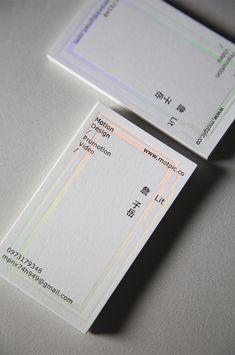 Minimal business card in white. with clear holographic deboss Corporate Design, Graphic Design Branding, Stationery Design, Brochure Design, Unique Business Cards, Business Card Design, Minimal Business Card, Book Design, Web Design