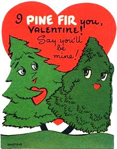 Pine tree valentine #vintage