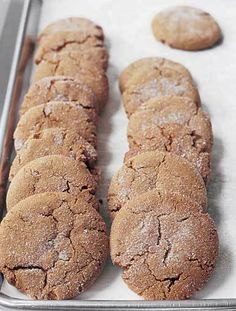 Ultimate Ginger Cookie With Crystallized Ginger _ by Excerpt from Barefoot Contessa at Home by Ina Garten.