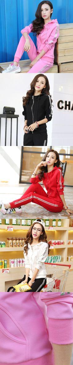 2016 Hot Sale Lady Tracksuit Women Sweatshirt +Pant Track suit 2 Piece Set Sporting Suit for women autumn pink suit sets 156