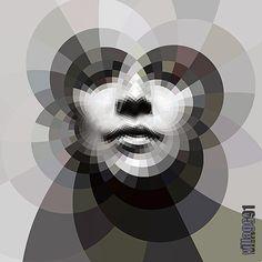 awesome geometric portrait