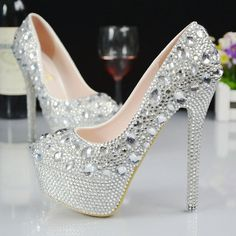 Platform HeelS High Heels Elegant Evening Party Shoes 1    https://www.lacekingdom.com/   Lace Kingdom: Everything You Need for #Weddings & Events