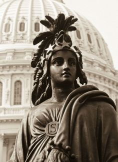 """Freedom December 2, 1863 On this date, """"Freedom,"""" the statue on top of the dome of the U.S. Capitol, was put in place permanently.  The Man responsible for this architectural feat was Philip Reid, a Black man. Reid was a slave at the Bladensburg (Maryland) Foundry when he supervised the bronze casting of the statue."""
