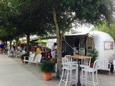 Airstream food trucks in Seaside, Florida