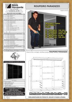 O Manual de Montagem do Roupeiro Paradizzo da Novo Horizonte, WhatsApp e ZapZap +55 81 99998025 Montador de Móveis Fones:+55 81 - 9999-8025 - TIM (PE) 81 - 9166-8668 - CLARO (PE) 81 - 8123-9507 - VIVO (PE) 81 - 8826-9335 - Oi (PE) 84 - 9854-1283 - TIM (RN)