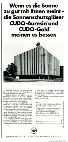 Original-Werbung/ Anzeige 1969 - CUDO GLAS / DETAG DEUTSCHE TAFELGLAS - FÜRTH - ca. 110 x 240 mm