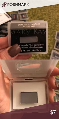 Stone eyeshadow BRAND NEW!!! Mary Kay stone eyeshadow. I use to be a Mary Kay consultant and haven't been for awhile. Just trying to get rid of everything I got. Mary Kay Makeup Eyeshadow