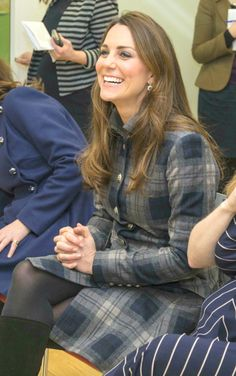 Catherine, Duchess of Cambridge, Countess of Strathearn in Glasgow, Scotland. April 4, 2013.