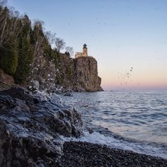 84ability:  #splitrock #lighthouse #putasplashonit #lakesuperior  #sunset #nature #landscape #exploremn #upnorth #minnesota