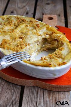 Olio e Aceto: Ricetta lasagna alla zucca con ragù di pollo e ricotta aromatizzata al coriandolo