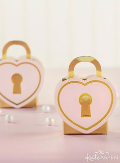 Love Lock Favor Box (Set of Our Love Lock Favor Boxes, available in sets of add a touch of whimsy to your wedding or bridal shower décor. Designed like a heart-shaped padlock, these unique favor boxes keep guest treats and favors safe and so Wedding Shower Favors, Best Wedding Favors, Bridal Shower Decorations, Party Favors, Wedding Gifts, Wedding Invitations, Wedding Ideas, Wedding Things, Wedding Decorations