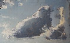 "Cloud Study by Ian Costello Oil ~ 10.875"" x 17.75"""