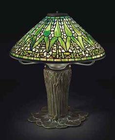 AN 'ARROWHEAD' TABLE LAMP, CIRCA 1910