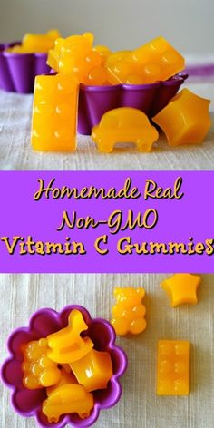 Homemade Real Non-GMO Vitamin C Gummies Vitamin C is necessary to support a strong immune system and maintain good cardiovascular health. It promotes eye health and helps prevent colds. Vitamin C is also a great flu-fighter. These Ho… Home Remedies, Natural Remedies, Vitamin C Gummies, Healthy Snacks, Healthy Recipes, Fruit Snacks, Diy Snacks, Chickpea Recipes, Baby Food Recipes