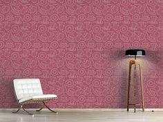 Design #Tapete Kaffeeklatsch Rot