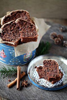 Zuckerzimtundliebe Postausmeinerküche Post aus meiner Küche Lasst uns froh und lecker sein Weihnachten Gewürzkuchen Schokoladenkuchen Kastenkuchen Zimtglasur