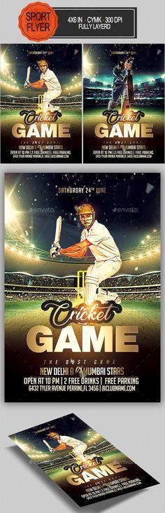 Cricket Game Flyer