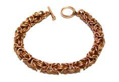 Byzantine Bronze Bracelet by Gibbtall on Etsy, $20.00