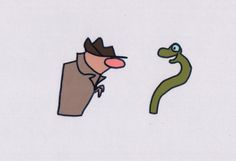 Sesame Street 1980s Detective and Snake production animation cels Ivanick 2* by CharlesScottGallery on Etsy