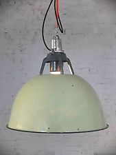 Industriedesign pur: große Emaille Fabriklampe/ Industrielampe