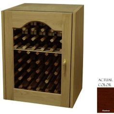 Vinotemp Vino-114prov-cn 80 Bottle Provincial Series Wine Cellar - Glass Doors / Chestnut Cabinet by Vinotemp. $2599.00. Vinotemp VINO-114PROV-CN 80 Bottle Provincial Series Wine Cellar - Glass Doors / Chestnut Cabinet. VINO-114PROV-CN. Wine Cellars. Handcrafted with an attractive white oak exterior, the 114-model Provincial Wine Cellar features a stunning oval beveled glass window set in a furniture trim door. This wood Wine Cellar stores up to 80 bottles of wine. Equipped w...
