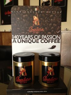 Gold reserve Barbera Italian coffee can 250g (8.8oz) is available in either whole bean or ground coffee