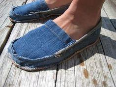 Шьем из старых джинсов. Sewing of old jeans