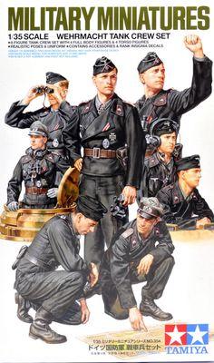 Tamiya America Inc Wehrmacht Tank Crew Set Ww2 Uniforms, German Uniforms, Military Uniforms, German Soldiers Ww2, German Army, Military Art, Military History, Panzer Tattoo, Wedding Ring
