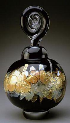 Art glass perfume bottle by Sharon Fujimoto