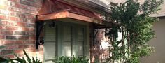Metal Awnings, Copper Awnings, Canvas Awnings Shipped in USA