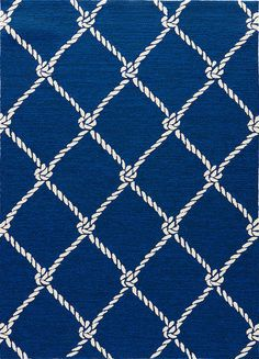 Presenting Blue Fish Net, a new look nautical styled rug from Jaipur Living's Coastal Lagoon Collection.