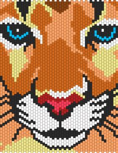 Mountain Lion bead pattern