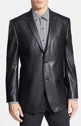 Marc New York by Andrew Marc Classic Fit Faux Leather Blazer