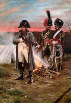 Napoleone con i cacciatori a cavallo della guardia imperiale - Stefano Manni