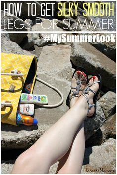 How To Get Silky Smooth Legs For Summer | via @Glamorable!! #shop #cbias #mysummerlook #bbloggers #beauty #summer #silky #legs #legcare #bodycare #skincare #energizer #bananaboat #sallyhansen #nails #pedicure #red #nailpolish #schick #skintimate #wahaiiantropic #sunscreen #spf #spray
