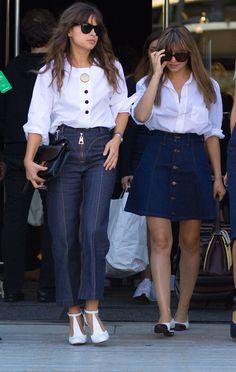 Miroslava Duma and Nasiba Adilova. New York Fashion Week, Spring 2016.