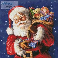 Jolly Old St Nick cross stitch pattern.